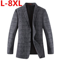 New Plus size 8XL 7XL 6XL 5XL Arrival Spring Men's Suit Jacket Fashion Slim Fit Brazer Casual Blazers Men High Quality