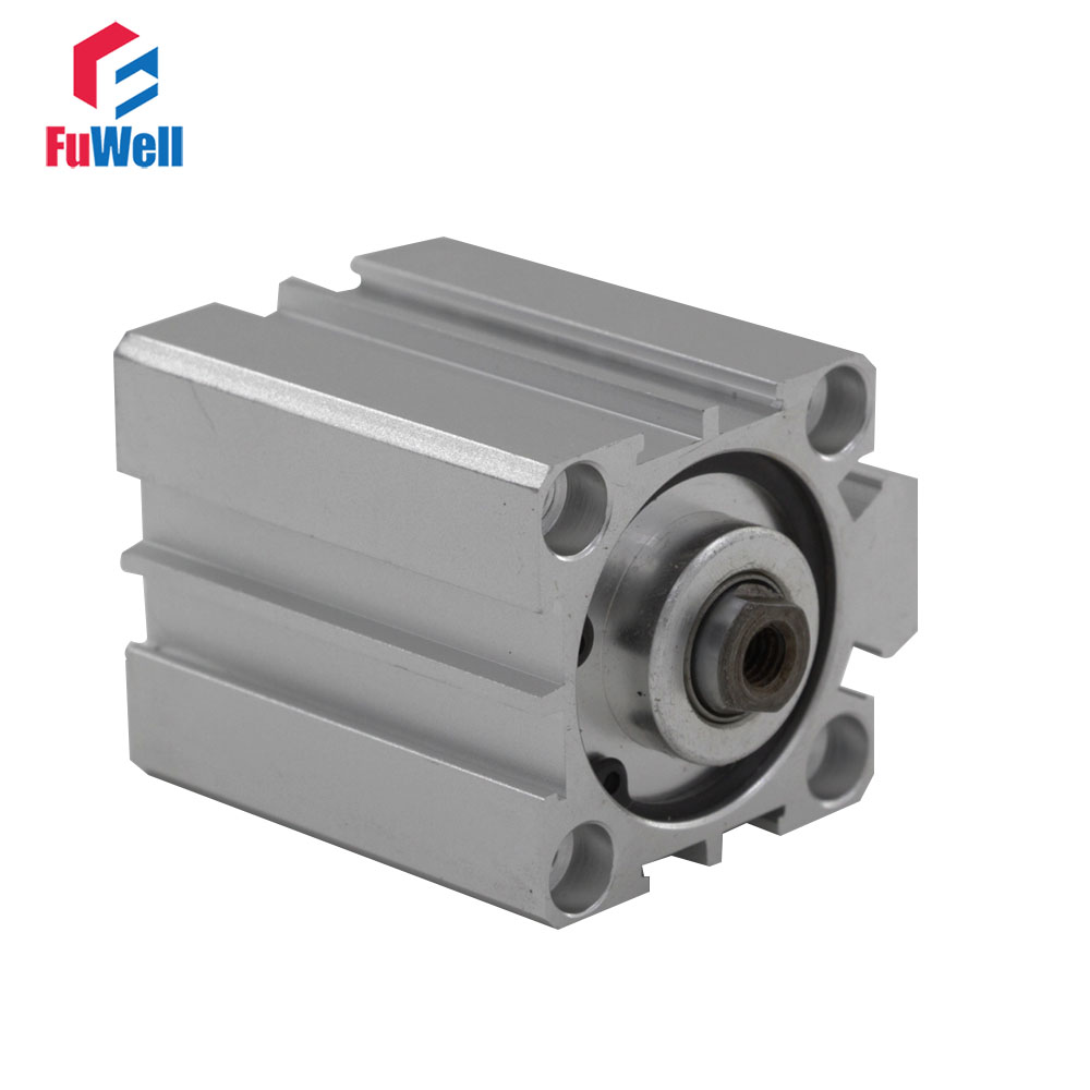 Pneumatic Cylinder SDA Type 32mm Bore 5/10/15/20/25/30/40/50mm Stroke Aluminum Alloy Double Acting Air Cylinder sda type bore 20mm stroke 5 10 15 20 25 30 35 40 45 50mm sda20 double acting compact air pneumatic piston cylinder female