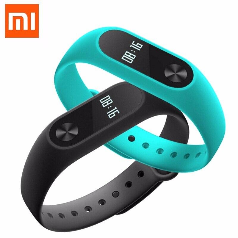 100 Original Xiaomi Mi Band 2 Smart Wristband Wearing Comfortable Heart Rate Monitor LED Screen Pedometer