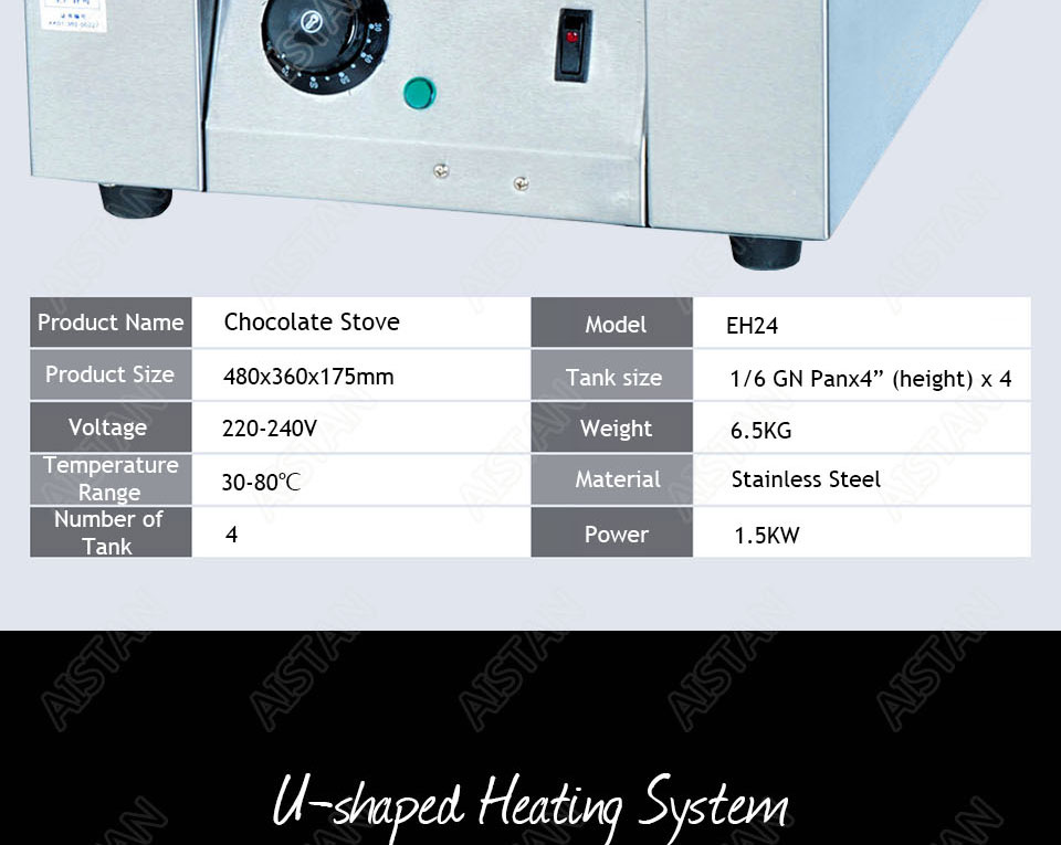 EH22/EH23/EH24 Electric Chocolate Stove Chocolate Melting Pot DIY Kitchen Tool of Catering Equipment 8