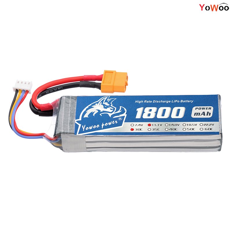 2PCS YOWOO RC Lipo 3S 1800mAh Battery 11.1v 30C MAX 60C Blade 400 3D TREX For RC Drone AKKU Helicopter Quadlicopter Car Airplane mos rc airplane lipo battery 3s 11 1v 5200mah 40c for quadrotor rc boat rc car