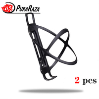 Lightweight road bike mountain bike cycling carbon fiber bicycle bottle cage bike cage cycling Water bottle holder Black Frosted