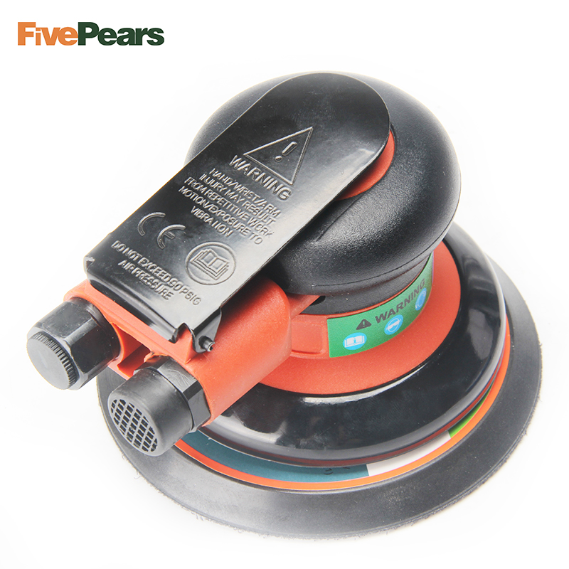 Fivepears Palm-Sander-Polisher Pneumatic-Power-Tool Air-Random-Orbital for 5inch 125mm-Pad