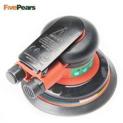 Ar aleatório orbital palma lixadeira polidor para 5 polegada 125mm almofada ferramenta elétrica pneumática frete grátis fiveperas