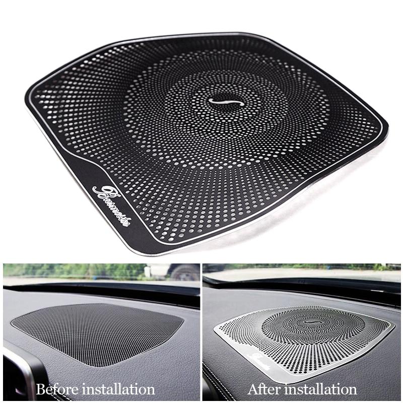 Car styling Audio Speaker For Mercedes Benz W205 GLC C Class C180 C200 Dashboard Loudspeaker Cover Stickers Trim Accessories LHD