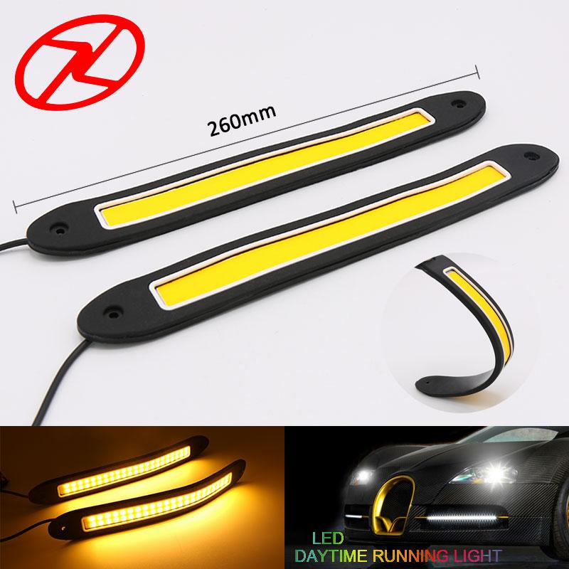 2PCS Αυτοκίνητα COB Chip LED DRL Φώτα οδήγησης - Φώτα αυτοκινήτων