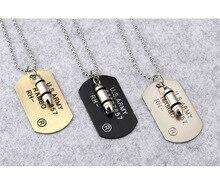 新ファッションパンク弾丸軍カードのネックレス ステンレス鋼のペンダントネックレス男性ジュエリーギフト 316L 2019