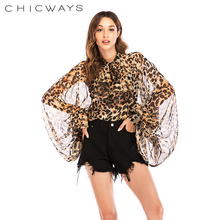 Chicways Long Lantern Sleeve Sheer Top Women Shirt Back Open Bow Neck Vintage Sexy