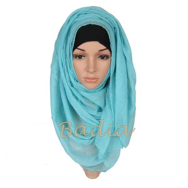 Plain Hijab Scarf Fashion Muslim Voile Head Wraps Women Shawl Sarves Bandana