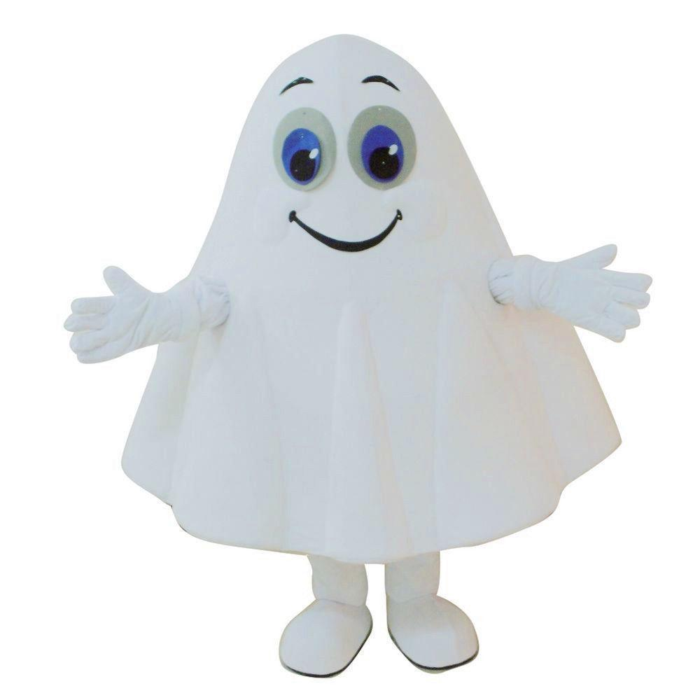 2017 New Deluxe Cartoon White Ghost Cartoon Character Costume Mascot ...