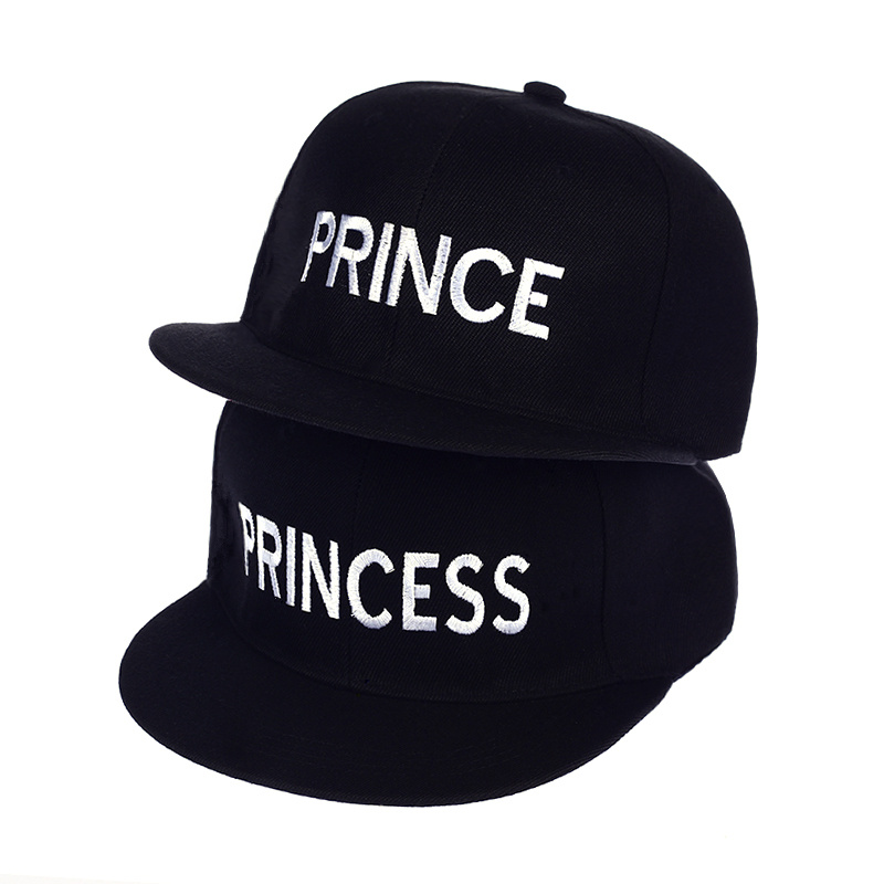 Hot Sale PRINCE PRINCESS Embroidery men women Snapback Hat Couple   Baseball     Cap   friend Gifts For Fashion Hip-hop   Caps