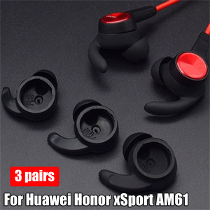 Image 2 - New  Earbuds Tips Silicone Cover Eartips for Huawei Honor xSport AM61 Bluetooth Headset Earphone Cover Ear Hook Durable
