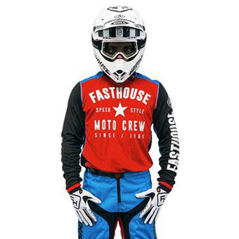Prix pour Vitesse Style L1 Jersey 2017 Blanc FH fasthouse Motocross Jersey Racing Moto Formation chemise Rouge noir VTT VTT DH MX Vélo Jersey