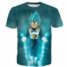 PLstar Cosmos 2018 Newest fashion T shirt Anime Dragon Ball Z Super Saiyan t shirt cool Vegeta 3D print Women Men Summer t shirt