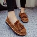 La primavera y el otoño de las nuevas mujeres zapatos casuales zapatos inferiores suaves antideslizantes madre hecha a mano de la moda salvaje zapatos planos cómodos envío gratis
