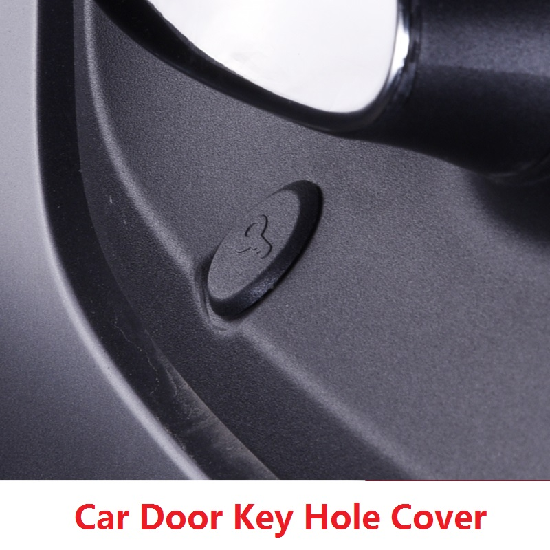 Black Car Left Door Key Cover Insert for Benz Smart Fortwo 2009 2010 2011 2012 2013 2014 2015 2016 2017 Accessories