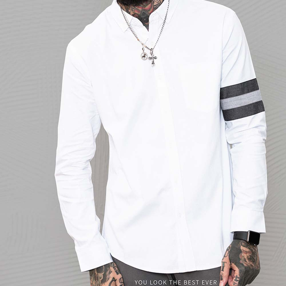 Männer Kleidung 2018 Neue Herren Langarm Casual Shirt Baumwolle Hemd Männer Waschbar Straße stil Casual Sommer # C85052