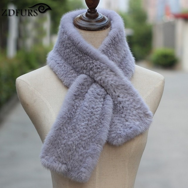 2016 autumn new mink scarf fur collar double-sided thickening perforated water mink scarf Korean women 90*12cm
