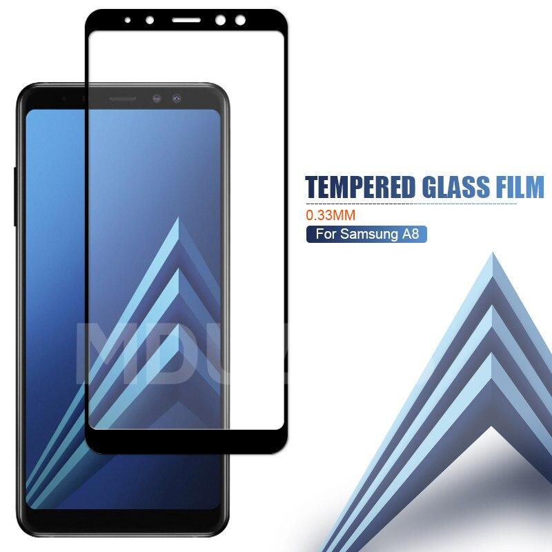 Image 5 - 9D verre de protection sur le pour Samsung Galaxy A3 A5 A7 2016 2017 A6 A8 Plus A9 2018 étui en verre trempé protecteur décran-in Protections décran de téléphone from Téléphones portables et télécommunications on AliExpress