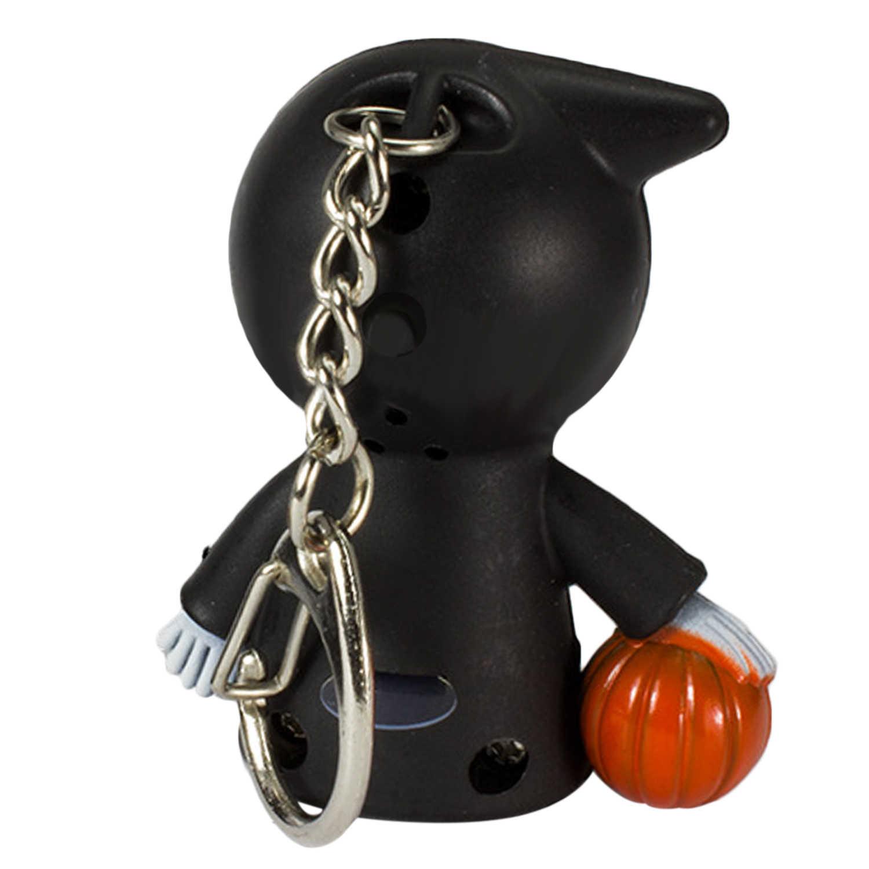 2 pcs Fantasmas Esqueleto Crânio Dos Desenhos Animados Da Novidade do Dia Das Bruxas Chaveiro Chaveiro com Luzes LED Voz Horrível Crianças Presentes Brinquedos Criativos