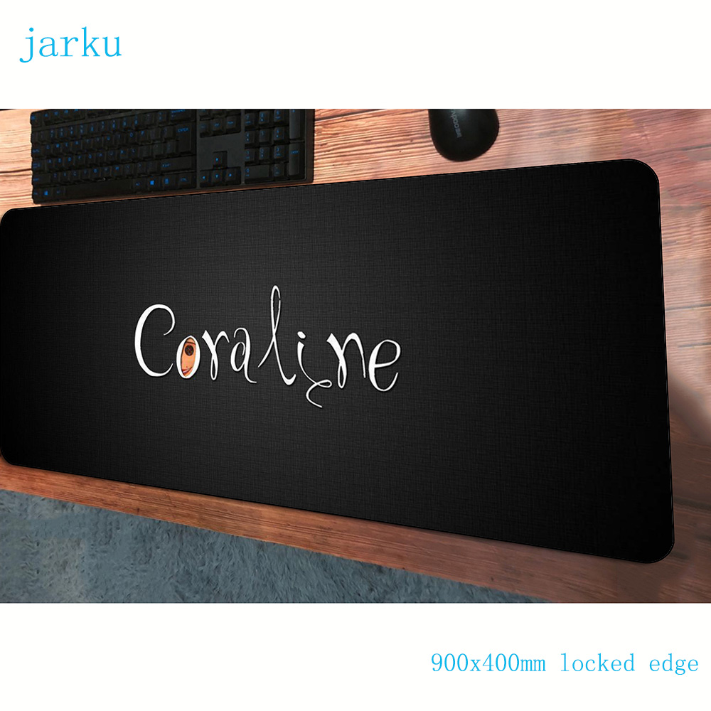 coraline <font><b>padmouse</b></font> <font><b>900x400x3mm</b></font> gaming mousepad game locrkand large mouse pad gamer computer desk thick mat notbook mousemat pc image