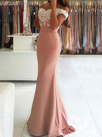 Robe De Soiree Mermaid Satin Ladies Evening Dresses Lace Off the Shoulder Sexy Backless Customizable Women Evening Gowns
