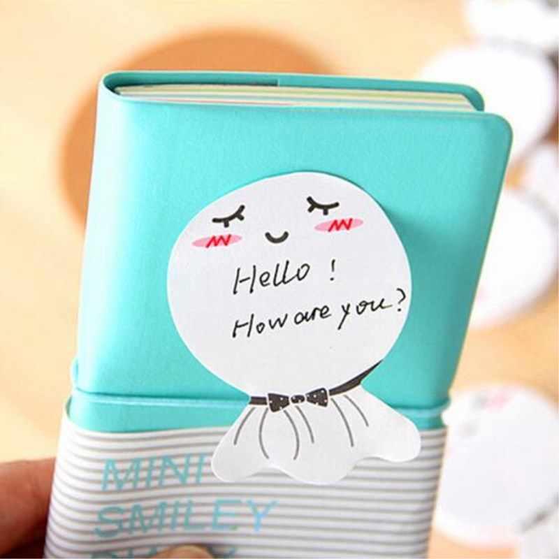 DIY Boneca Ensolarado Smily bloco de Notas Pegajoso Etiqueta Post It Sticky Note Para A Escola Escritório Produtos de Papelaria Da Escola