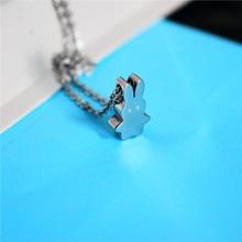 Vintage Jewelry Rabbit Long Necklaces For Women Famous Brand Titanium Stainless Steel Best Friends Necklace Men Collier Femme