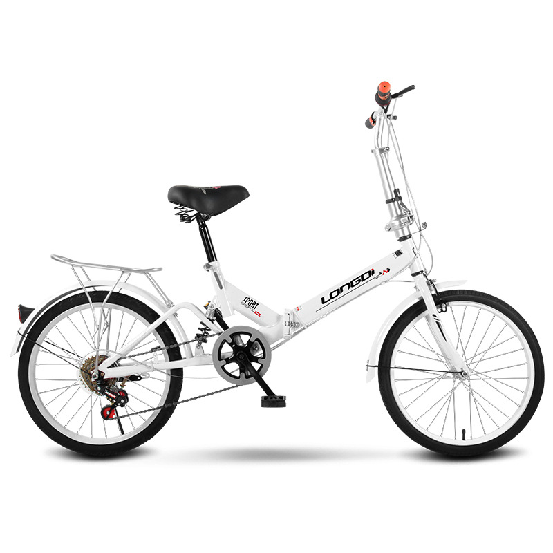 20 Inch Color Single Speed Or Variable Speed Shock Absorption Folding Bicycle For Men And Women Easy To Fold