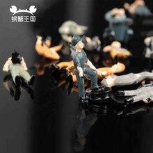 25 шт. DIY модель поезд рабочие люди фигуры ландшафт для железной дороги макет 1/87 хо масштаб