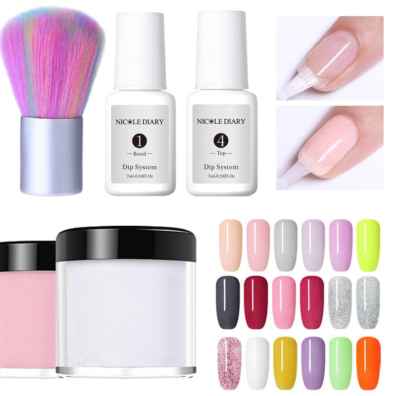 Fein 18 Farben Holographische Tauch Pulver Gradienten Dip Nail Art Glitter Pigment Dekoration Uv Gel Natürliche Trockene Ohne Lampe Heilung Home