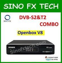 Receptor de satélite DVB-S2 DVB-T2 terrestrial combo com H.264/MPEG4 USB2.0 PVR receptor aberto v8 combo