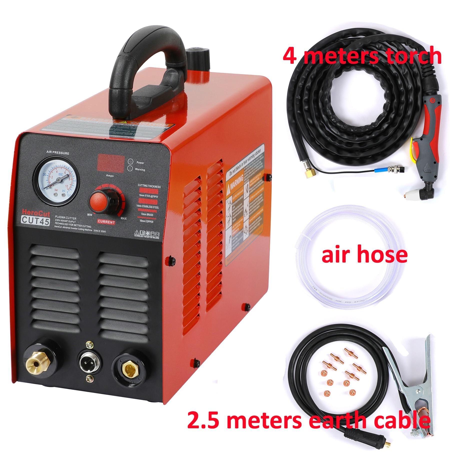 Plasma 220V Plasma 10mm Cutting Air Cut45 Cutting Machine IGBT CUT45i HeroCut  Clean Cutter