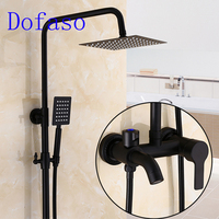 Dofaso antique Rubbed Bronze Black Shower Set Faucet matte black shower faucets retro oil black shower