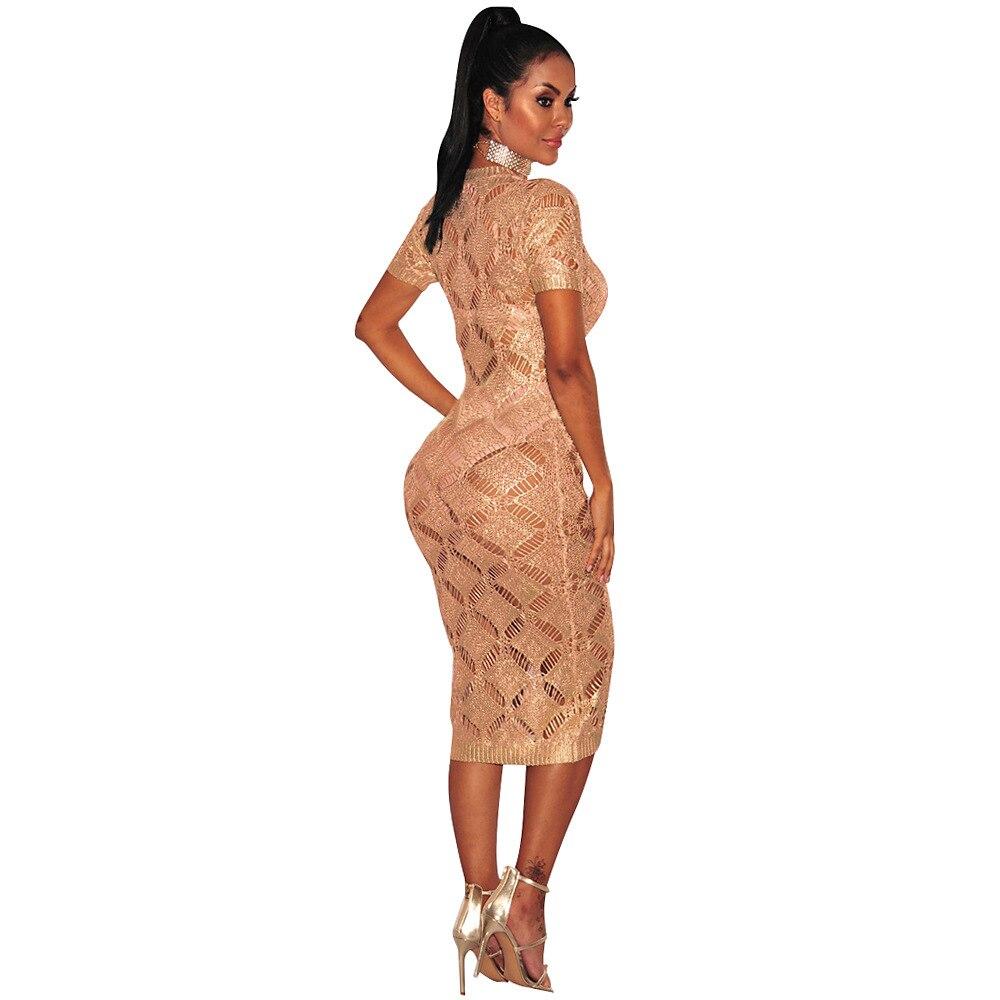 HTB1zs4rSpXXXXX8aXXXq6xXFXXXe - 2018 Latest Summer Sexy Dress Rose Gold Knitted Nightclub Party Dresses Women Short Sleeve Fashion Casual Dress