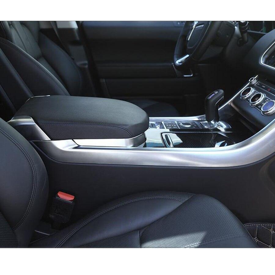 Intérieur de voiture Console centrale accoudoir boîte de rangement cadre couvercle garniture pour Land Rover Range Rover Sport 2014-2017 style