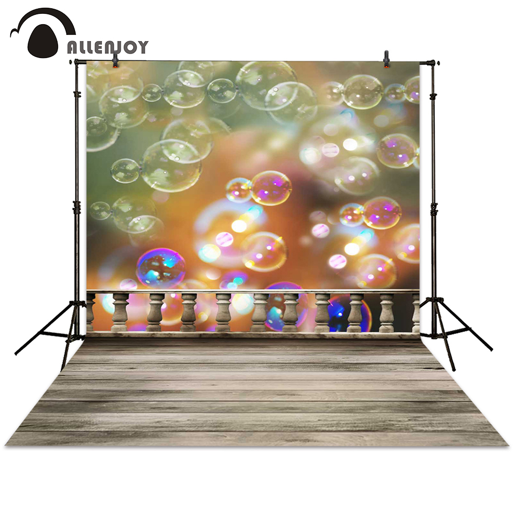 Allenjoy photography backdrop bubble fence ground blur bokeh background photocall photographic photo studio baby children allenjoy background photography wall ground brick grey stone floor backdrops photocall photographic photo studio