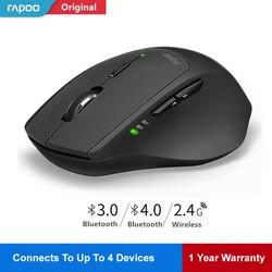 Mysz bezprzewodowa Rapoo MT550 inteligentny przełącznik między 4 urządzeniami myszy do gier przełącz między mysz komputerowa Bluetooth 3.0  4.0 i 2.4G