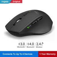 Rapoo MT550 Drahtlose Maus Smart switch zwischen 4 geräte gaming Mäuse Schalter zwischen Bluetooth 3,0, 4,0 & 2,4G Computer maus