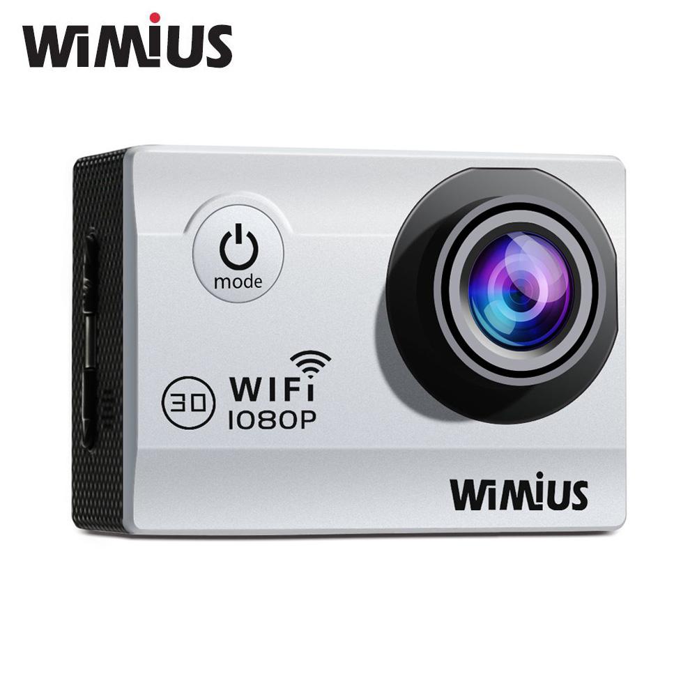 """Prix pour Wimius Wifi Sport Action Caméra Full HD 1080 P 30fps 2.0 """"12MP 170D Angle Aller Étanche 40 M Pro Mini Vidéo Casque Cam 2 batteries"""