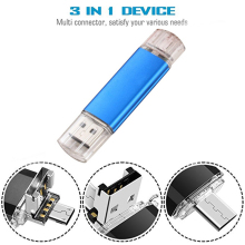 USB 128GB Flash Drive 3.0 Memory Stick External Storage Photo 3in1 for New MacBook Type-C Interface Micro and Computer