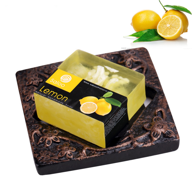 Купить с кэшбэком Lemon Essential Oil Handmade Soap 100g Natural Face Care Handmade Soap Replenishing Whitening