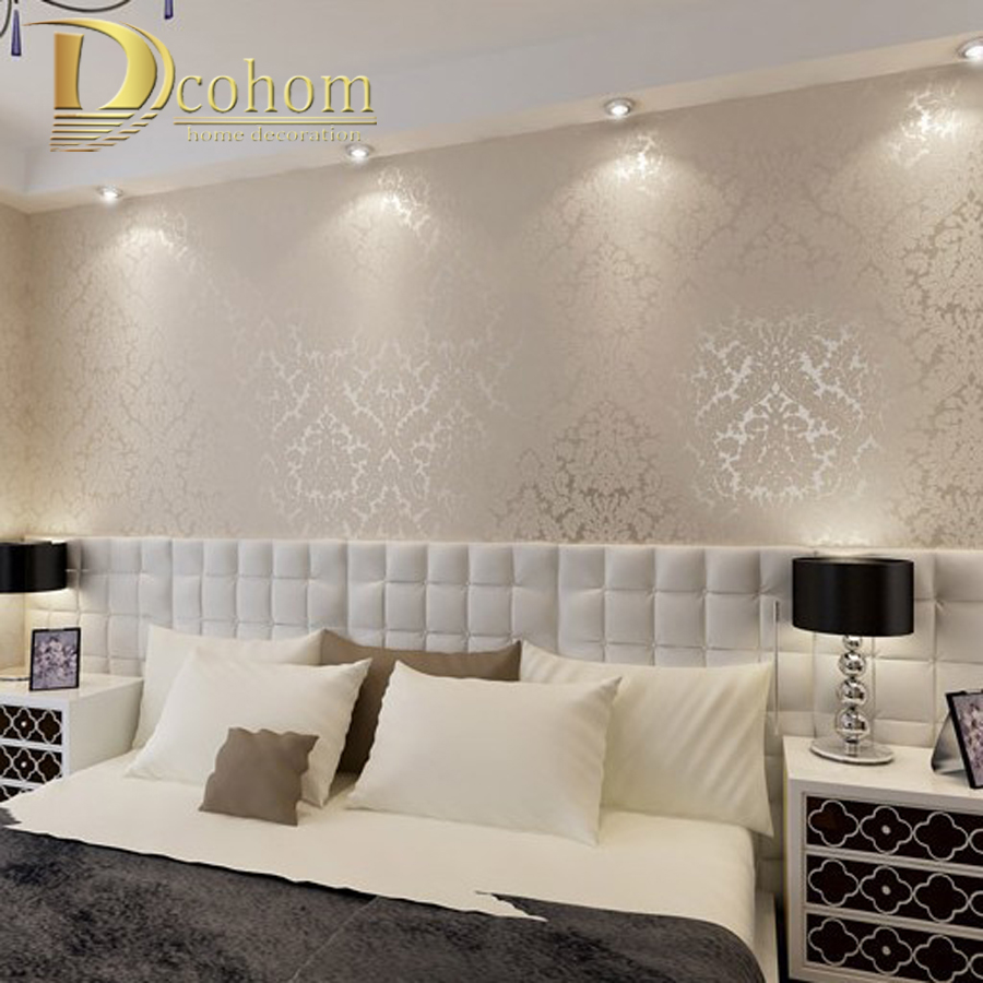 European vintage luxury damask wall paper pvc embossed for Wallpaper home improvement questions