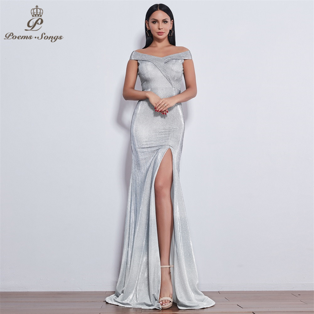 Poems Songs 2019 New style sexy impressive attractive   Evening     Dress   long   dress   vestido de festa serene hill long   dress   Party