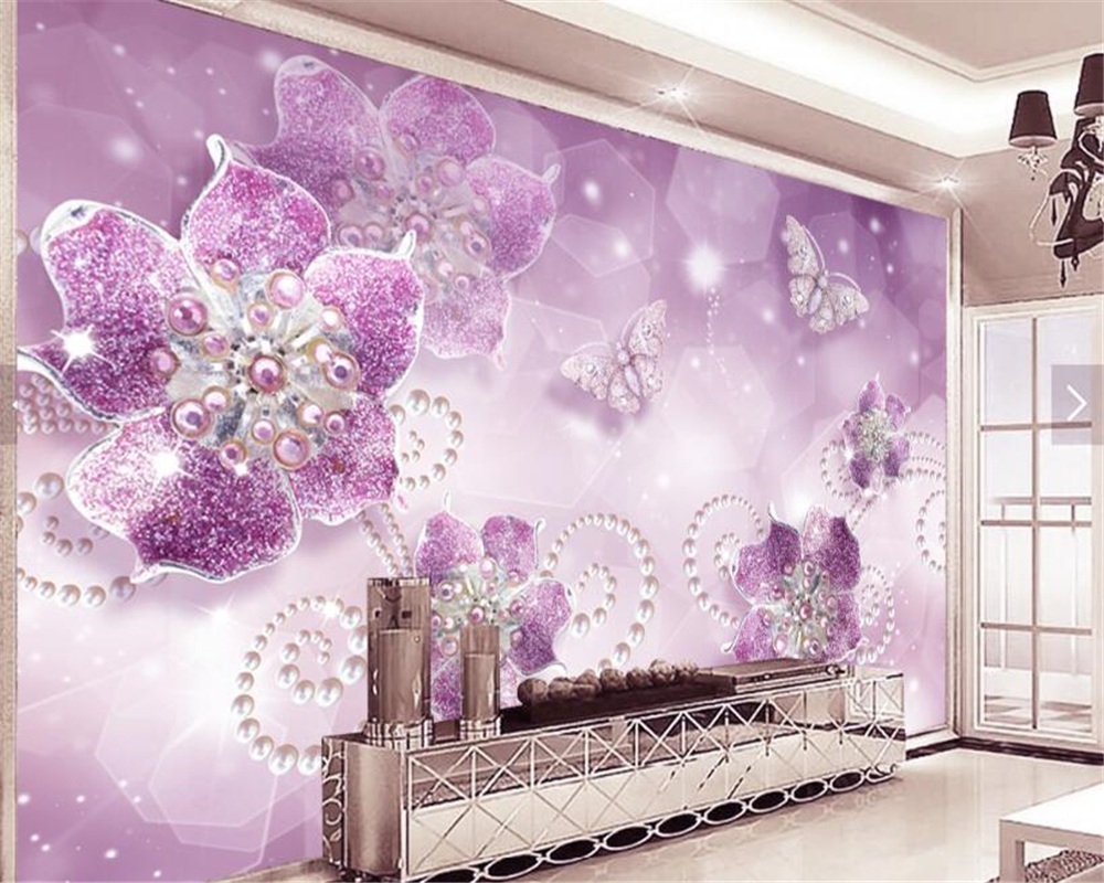 Most Inspiring Wallpaper High Quality Purple - beibehang-3d-wallpaper-High-quality-custom-beautiful-wallpaper-fashion-purple-flowers-butterfly-jewelry-TV-background-tapety  Collection_1003150.jpg