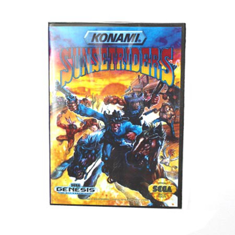 Sunsetriders Boxed Version 16bit MD Game Card For Sega Mega Drive And Genesis