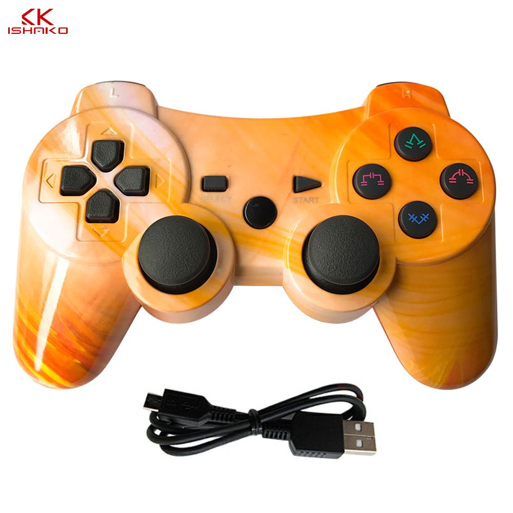 K ISHAKO Wireless Bluetooth Controller For PS3 Controle Joystick Game Pad Remote Wireless Canyon Color Ps3 Move Motion Controlle
