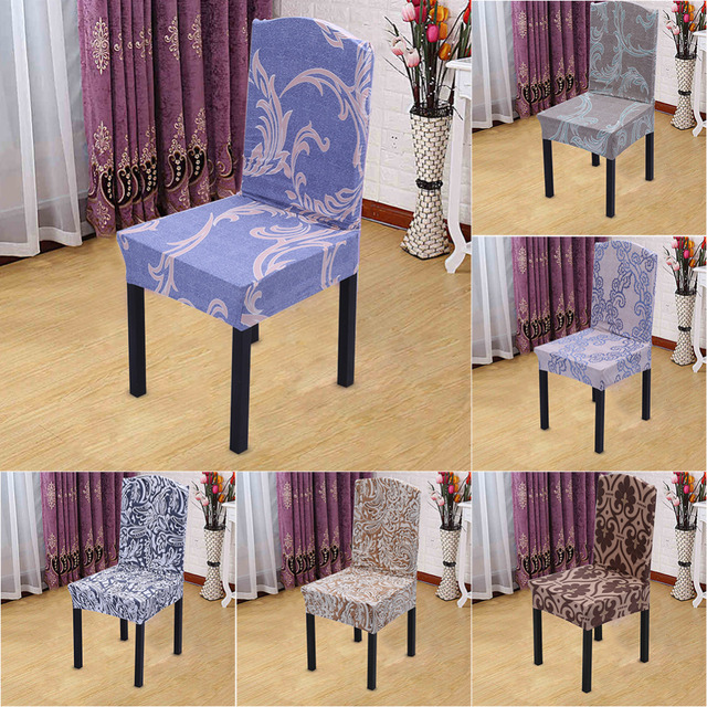 Universal Seat Cover Spandex Stretch Banquet Slipcovers Short Chair Covers  For Dining Room Wedding Party