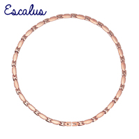 Escalus 23 PCS 99 9999 Full High Pure Solid Germanium Popular Necklace For Women Rose Gold