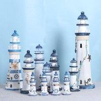 Akdeniz ahşap deniz feneri eski süslemeleri ev dekorasyonu yaratıcı deniz tarzı dekorasyon hediye çocuklar için